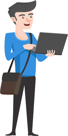 illustration of computer tech on laptop